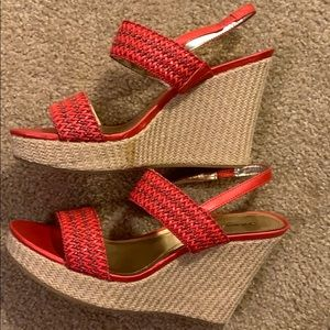 Style & co red wedges size 9.5